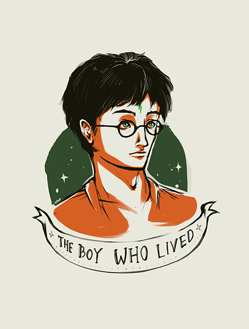 Harry Potter Doodles - 1/? - The Boy Who Lived