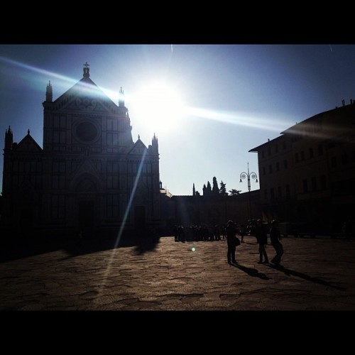 Morning #light in #florence (at Piazza di Santa Croce)