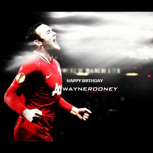 happy birthday WAZZA @WayneRooney ! 27th #birthday #mufc #ggmu #instagram #instagood #manchester #united