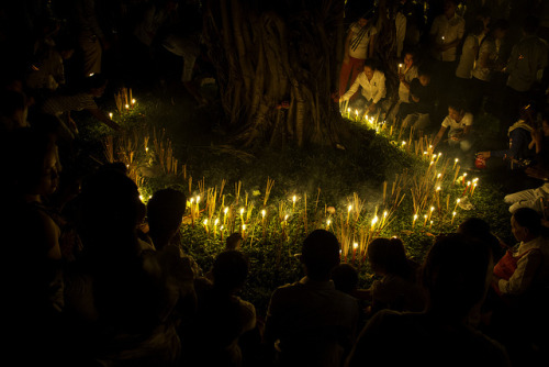Prayer Circle Mourning King-Father Norodom Sihanouk on Flickr.