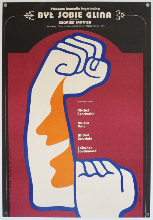 black-hands:  Byl Sobie Glina (There Was A Crooked Man).Polish movie poster by Wiktor Gorka. Found here.
