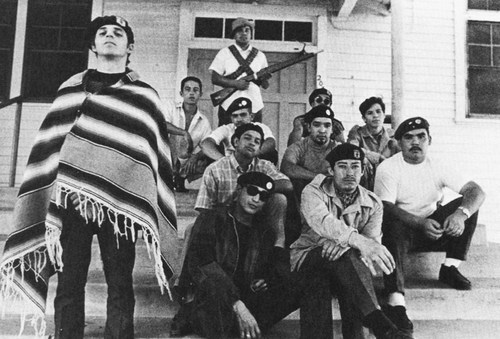 Members of the Brown Berets.