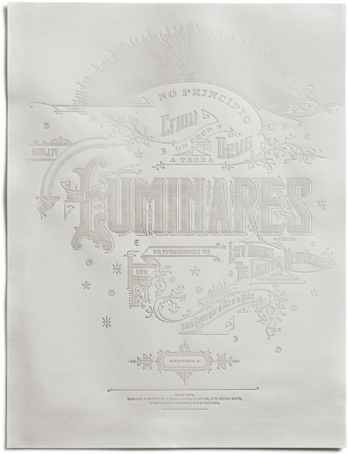 Typeverything.com Luminares poster by Kevin Cantrell.