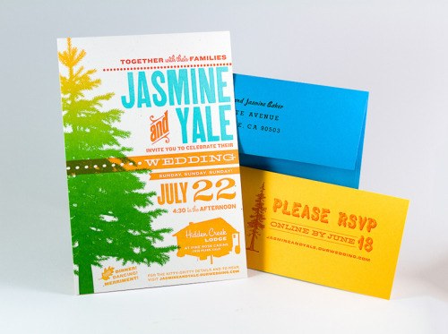 Jasmine & Yale Wedding Invitation