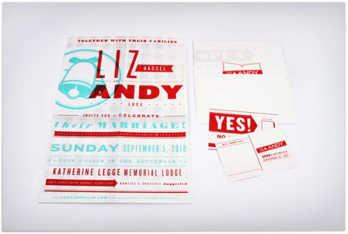 Andy & Liz Wedding Invitation
