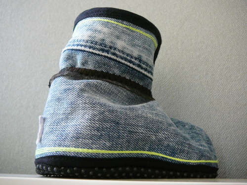Het detailburo is making the TOFFL from old jeans, sweaters and shirts. Something old and adding something new details.