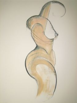 carmeljenkin-art:  Drawing by Carmel Jenkin Self- preservation, charcoal and acrylic on paper, 81cm x 57cm When faced with the prospect of losing a part of you that defines you the instinct is to fight and protect oneself. My tribute to breast cancer awareness month. This piece will be available for purchase on Daily Painters October 24th  l