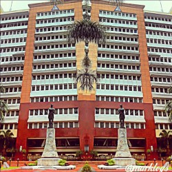 QUEZON CITY HALL.  #quezoncity #hall #street #city #philippines #building (at quezon city hall)