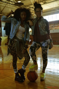 blackfashion:  Stylists: Darlisa Fletcher & Andrikka Jones, UMES Students Models: Cashey & Sarah, UMES Students Photographer: Nadia Ford of http://nadafoto.tumblr.com/