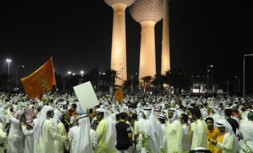 Above, an unfamiliar scene unfolded on the streets of Kuwait this week — as large crowds of protesters gathered to denounce the government's decision to amend the electoral law. The crowd, which has been estimated between 100,000 and 200,000, marked the largest demonstration in Kuwait's history. Read more from our Lebanese partner As-Safir.
