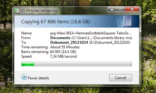 I'm backing up my a folder named The Sims Files.. ^^ This does not include my EA Games folders, yes I have several of those too. Almost 68 000 files, that's what I call dedication. xD How many sims-related files do you guys have?
