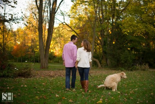 Dog Ruins Romantic Picture Sometimes love is about standing there while your pet defecates.