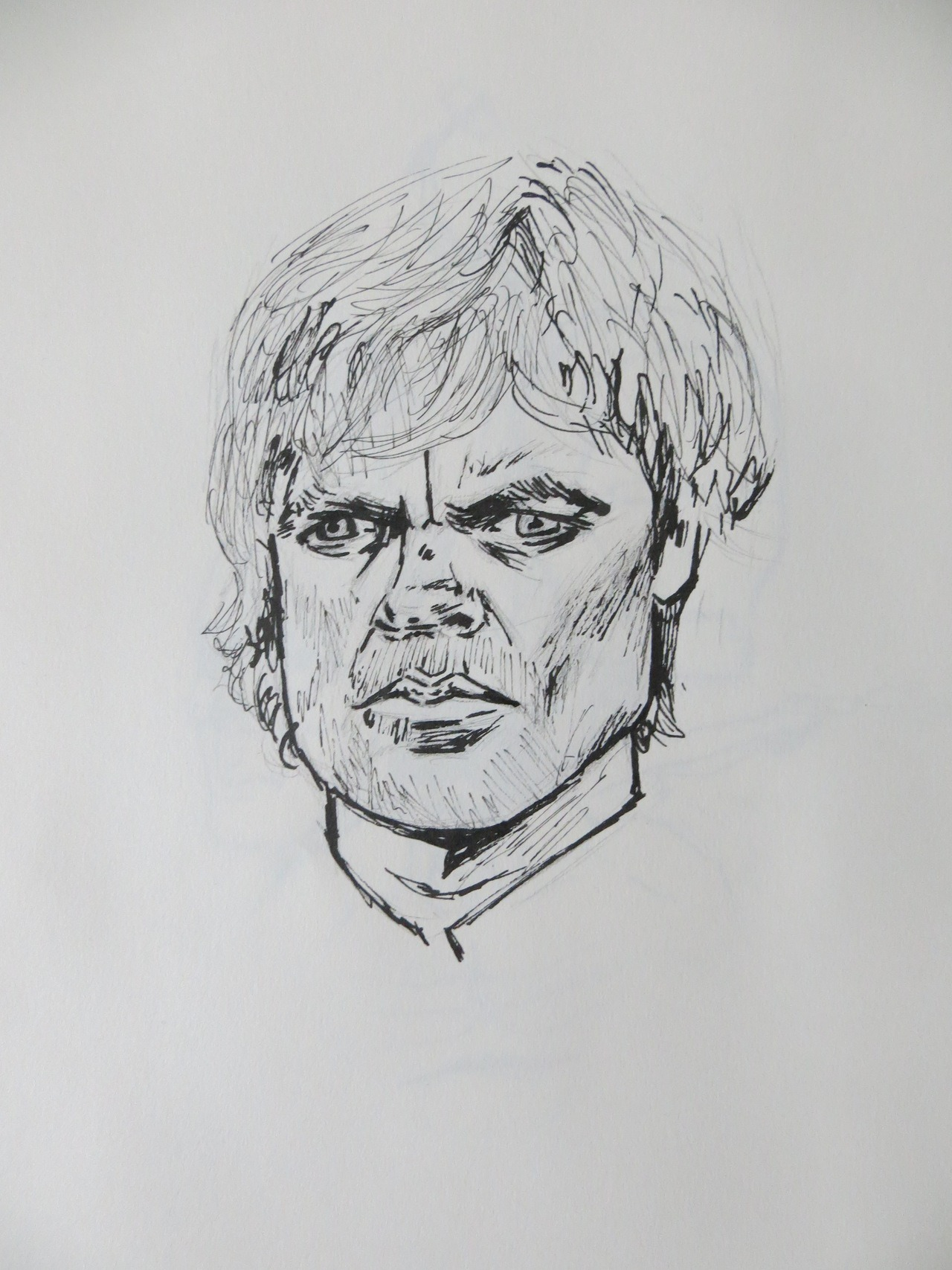 Tyrion Lannister sketch, pencil and ink  My Facebook | My Twitter