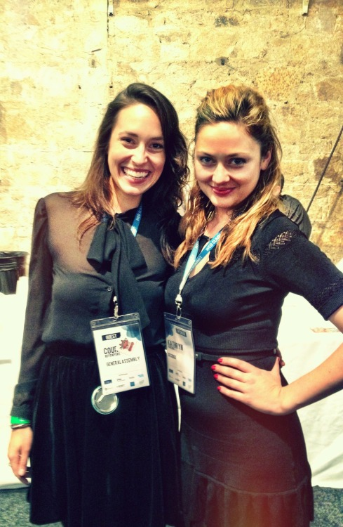 "didyougetthememo:  All the way from Dublin's Web Summit last week, a fabulous black-skirts-and-tops Memo was received by these two smart and lovely ""chicks who teach code,"" General Assembly London's Courtney Boyd Myers and Decoded's Kathryn Parsons. Conferences and tech events organizers: what further motivation to #ChangeTheRatio could you possibly need?"