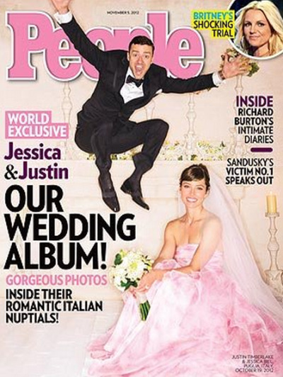 "IntroducingMr and Mrs Timberlake…Justin Timberlake and Jessica Biel for the latest issue of People. [Oct 2012]. Jessica on their wedding: ""It was a total fantasy experience."" Justin on the song he sang for his bride: ""It was an original piece I wrote specifically for the evening and for her."" And, when asked about the nuptials Justin added: ""It was a really special evening."" Read more here."