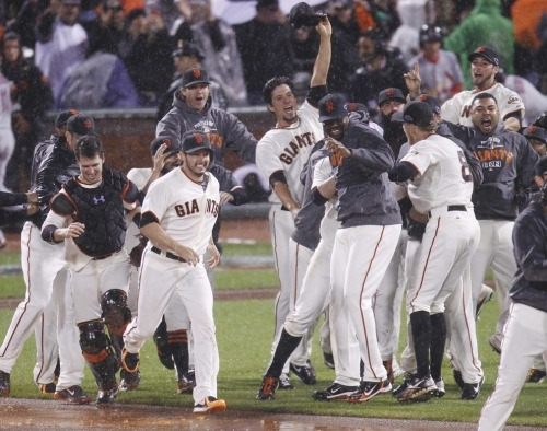 The San Francisco Giants are winners of six postseason elimination games in a row. Six days with our hearts in our throats, imagining the season ending—and six mornings after, waking up with the incredulous realization that the team was still alive.  Tonight the Giants face the Detroit Tigers at home in Game 1 of the 108th World Series.  Your matchups:  Justin Verlander vs. Barry Zito Doug Fister vs. Madison Bumgarner Anibal Sanchez vs. Ryan Vogelsong Max Scherzer vs. Matt Cain  Buckle up.