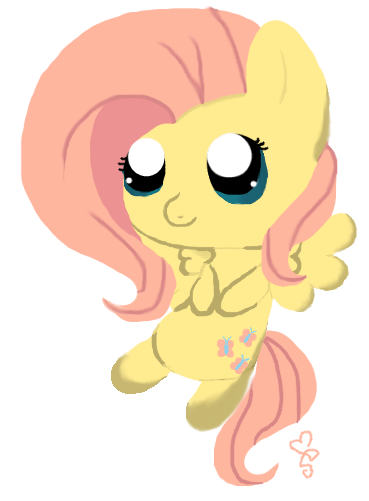 cocoa-bean-loves-fluttershy:  tiny Fluttershy by SweetPegasis