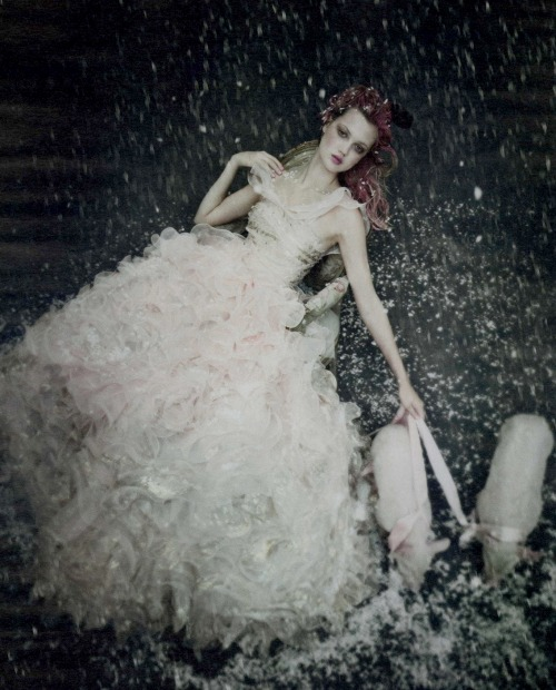 Lindsey Wixson by Paolo Roversi for W December 2010