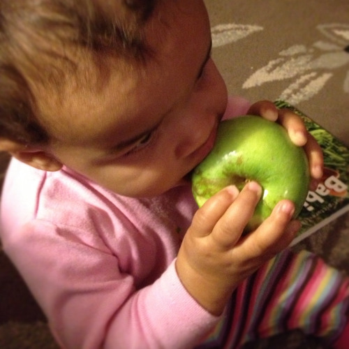 Ro stole an apple and loved it!!!!