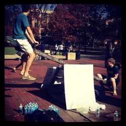 "Make your way down to the Diag to ""save the tots and donate to Motts"" @mottchildren  (at University of Michigan Diag)"