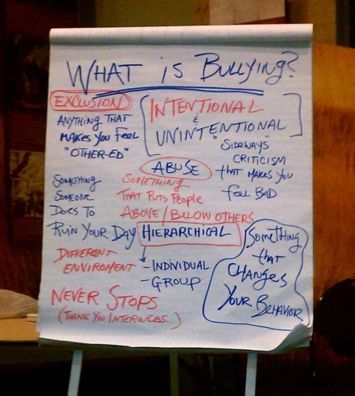 "Some of the thoughts from last night's ""Everyone is Bullied"" Panel."