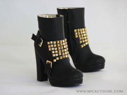 Gold Studded Boot $67  Shop at MickeysGirl.com