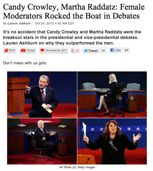 newsweek:  Lady moderators > man moderators.  Certified lady swagger. Election 2012 style.