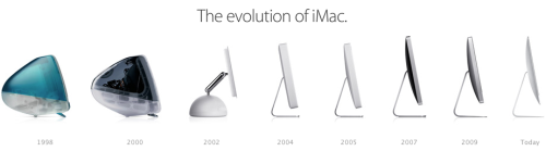 The evolution of the iMac.