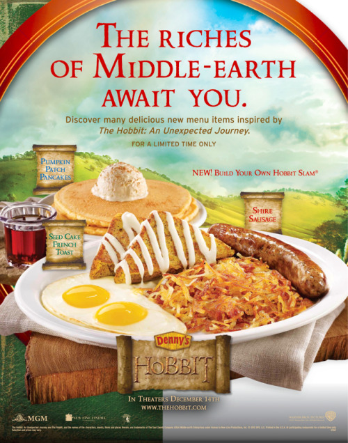 DENNY'S IS SERVING SECOND BREAKFAST.
