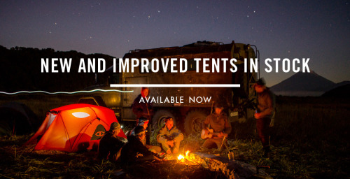 Finally! We have our new and improved tents in stock and ready to ship. We have made them more spacious while retaining the same footprint and the door is redesigned to allow for more useful variations. Hit us up with any questions! #campvibes Photo by Chris Burkard ! Follow him on all feeds @burkardphoto and on tumblr Here.