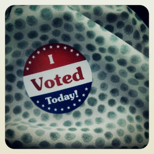 go vote — it makes you feel big & strong.