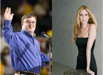 thedailywhat:  Dear Ann Coulter of the Day: After Ann Coulter referred to President Obama as a retard in a tweet during Monday night's presidential debate, Special Olympics athlete and global messenger John Franklin Stephens penned her this open letter: Dear Ann Coulter, Come on Ms. Coulter, you aren't dumb and you aren't shallow. So why are you continually using a word like the R-word as an insult? I'm a 30 year old man with Down syndrome who has struggled with the public's perception that an intellectual disability means that I am dumb and shallow. I am not either of those things, but I do process information more slowly than the rest of you. In fact it has taken me all day to figure out how to respond to your use of the R-word last night. I thought first of asking whether you meant to describe the President as someone who was bullied as a child by people like you, but rose above it to find a way to succeed in life as many of my fellow Special Olympians have. Then I wondered if you meant to describe him as someone who has to struggle to be thoughtful about everything he says, as everyone else races from one snarkey sound bite to the next. Finally, I wondered if you meant to degrade him as someone who is likely to receive bad health care, live in low grade housing with very little income and still manages to see life as a wonderful gift. Because, Ms. Coulter, that is who we are – and much, much more. After I saw your tweet, I realized you just wanted to belittle the President by linking him to people like me. You assumed that people would understand and accept that being linked to someone like me is an insult and you assumed you could get away with it and still appear on TV. I have to wonder if you considered other hateful words but recoiled from the backlash. Well, Ms. Coulter, you, and society, need to learn that being compared to people like me should be considered a badge of honor. No one overcomes more than we do and still loves life so much. Come join us someday at Special Olympics. See if you can walk away with your heart unchanged. A friend you haven't made yet, John Franklin Stephens Global Messenger Special Olympics Virginia [specialolympicsblog]  oh hell yes.
