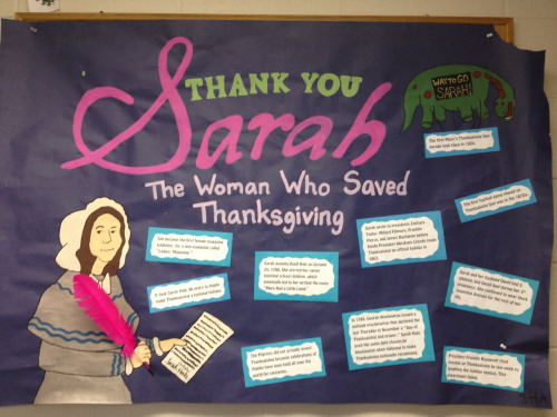 """Thank you Sarah"" Imag bulletin board!!"