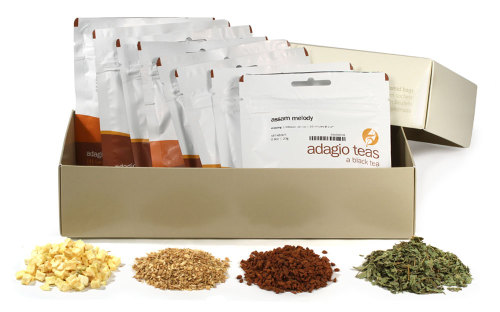 adagioteas:  So we made a few tweaks to the Signature Blend sampler set and have officially made it live. Would love some feedback, as well as creative suggestions for how we can turn this new product into a giveaway.