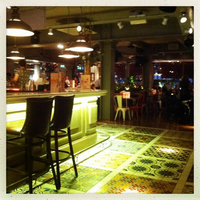 Revolution Cuba  New hip thing in Manchester?   Loving the floor, fabulous array of moorish tiles. I want!