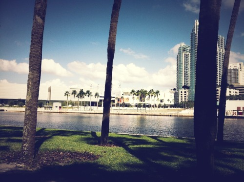 Enjoying lunch on the water. :) at University of Tampa – View on Path.