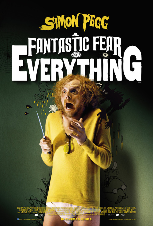 #117 A Fantastic Fear of Everything (2012) Dir. Crispian Mills & Chris Hopewell  I remember Simon Pegg tweeting about this just as he got the part saying it was one of the best scripts he'd ever read. While the finished film surely is packed to the teeth with tons of great ideas, bizarre concepts and shockingly bold genre-mash-ups it somehow just feels a bit flat. Pegg is great in what is an almost entirely solo performance for at least half the film. I like the ambition of it and it's quirky and unpredictable story and characters but it just kind of came and went. Liked it, didn't love it and can't see myself revisiting it any time soon. Still, at least it's different.