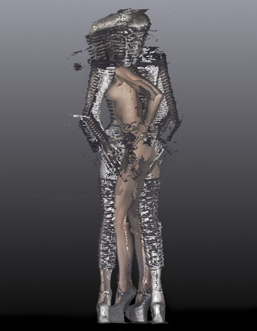 showstudio:  Daphne Guinness dress in Gareth Pugh for W magazine