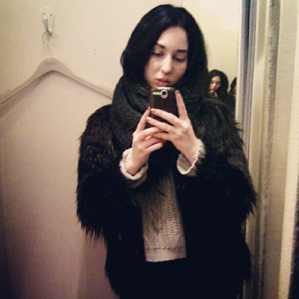 #me #girl #jacket #love #personal #life #blackhair #septum #instagram #sick #