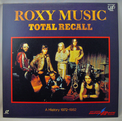 YouTube rarely lets me down, but im disappointed that no obsessive Roxy Music fan has uploaded any of the out of print documentary, Total Recall. There's a live version of 'Would You Believe' from the first Roxy album with Brian Eno's vocals heavy in the mix that im fixated on seeing again. its only on VHS and laser disc..which of course makes it even cooler…