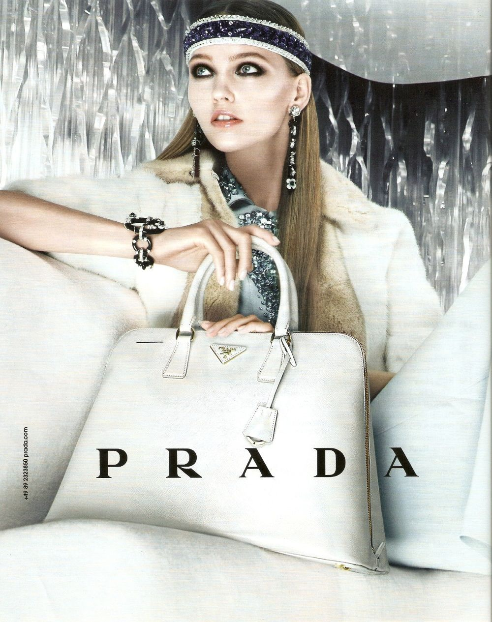 Sasha Pivovarova for Prada Resort 2013 Campaign