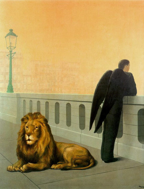 lemewsee:  René Magritte, Le Mal du Pays (Homesickness), ca. 1940, Oil on canvas