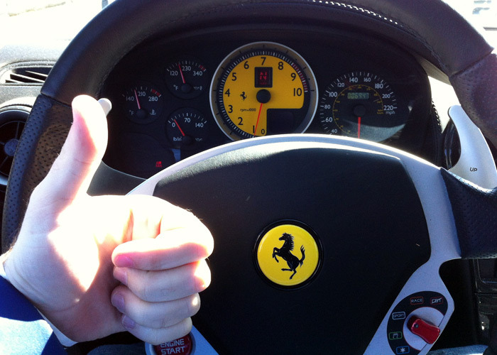 Any day behind the wheel of a Ferrari is a good day.