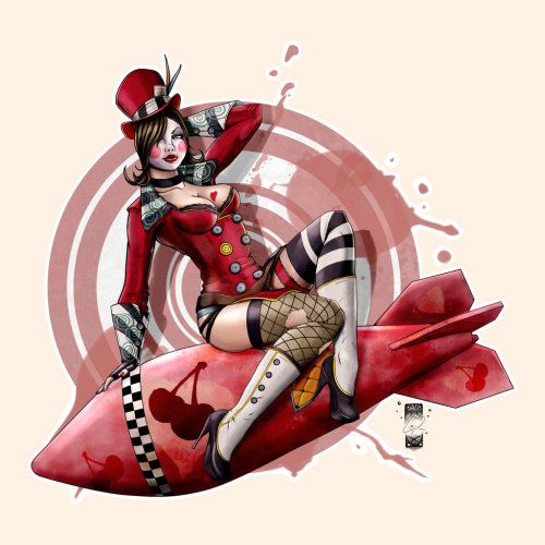 Mad Moxxi drops the bomb in this piece by Steevin