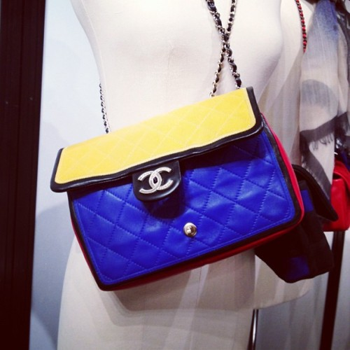 Mondrian-inspired Chanel purse Photographed by Julia Rubin
