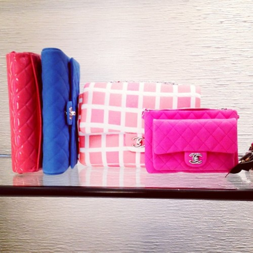 Candy-colored Chanel purses Photographed by Julia Rubin