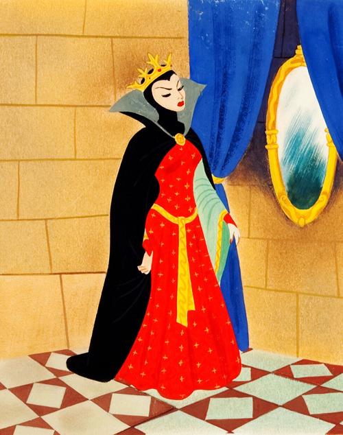 Snow White Children's Book Illustration (Disney-Golden Press, 1952)