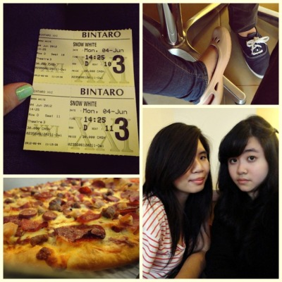 pizza and movie date with @nessamantha :*