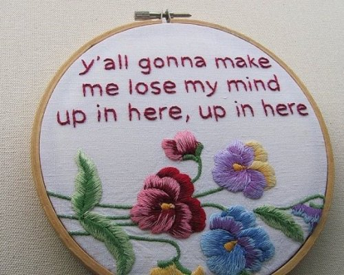 collegehumor:  Some Delightful DMX Needlepointing X gon' give it to ya, as soon as he's done with the last cross-stitching.