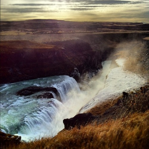 Gullfoss Waterfall, Iceland (at Gullfoss Waterfall)